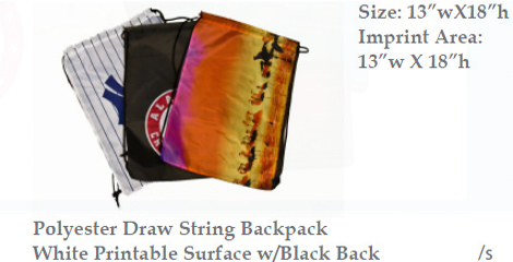 Polyester Draw String Backpack