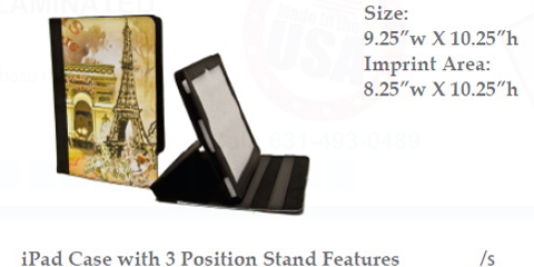 iPad Case with 3 Position Stand Feature